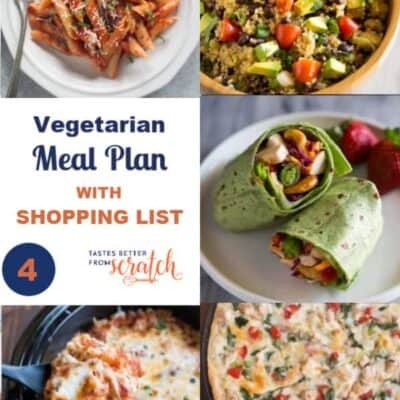 Week #4 Vegetarian Meal Plan and Shopping List