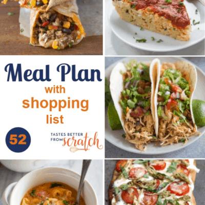 Weekly Meal Plan (52)