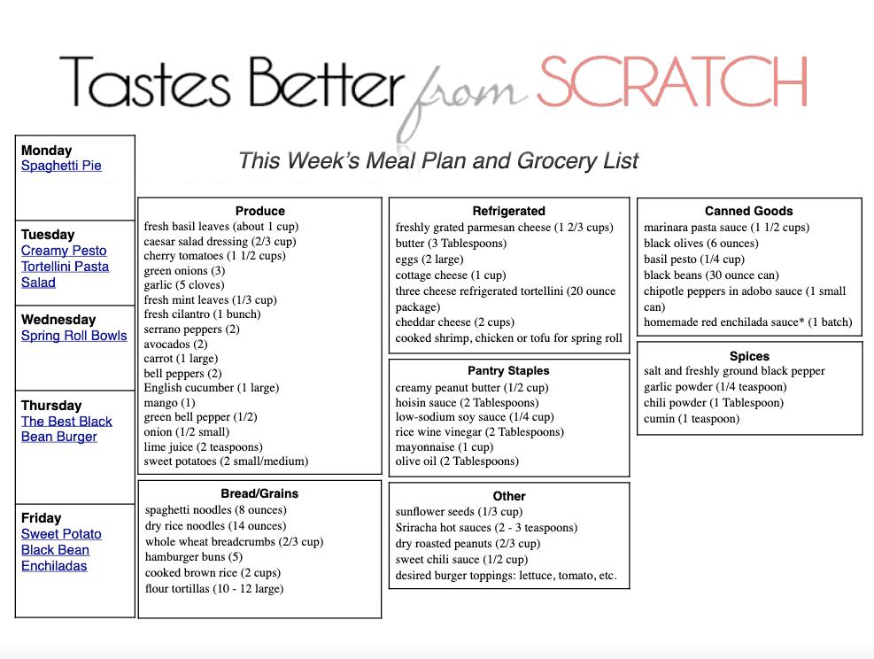 Printable Shopping List