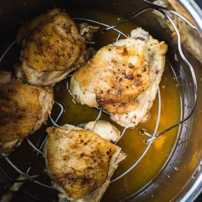 For chicken thighs cooking in an instant pot.