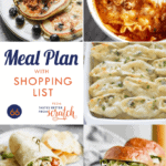 Collage of dinner recipe images