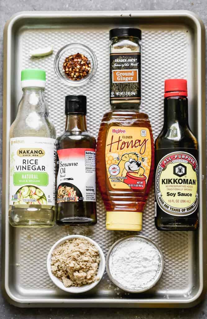 The ingredients needed to make homemade Teriyaki Sauce.